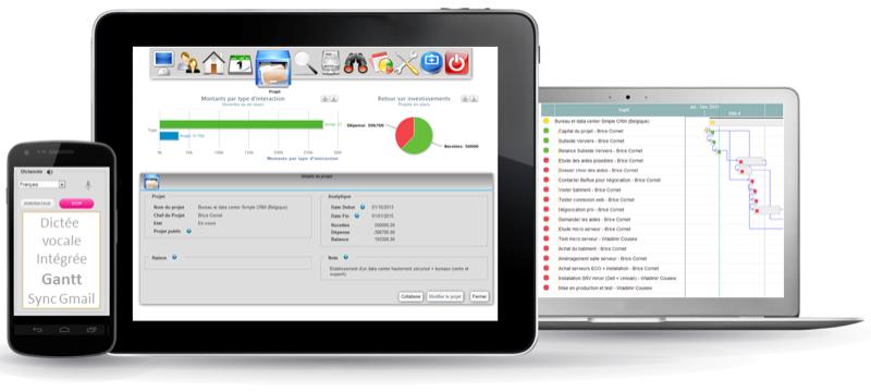 Semplice interfaccia web adattativa CRM, le richieste personalizzate, Geolocalizzazione cliente