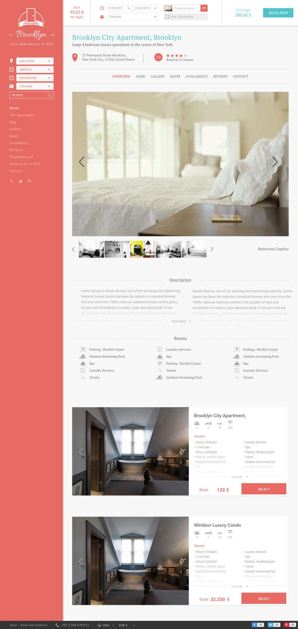 Web template per case vacanza