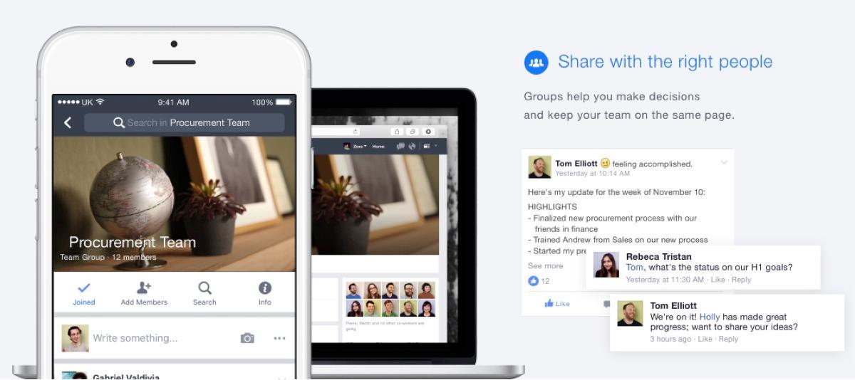 Facebook sul lavoro: creare eventi