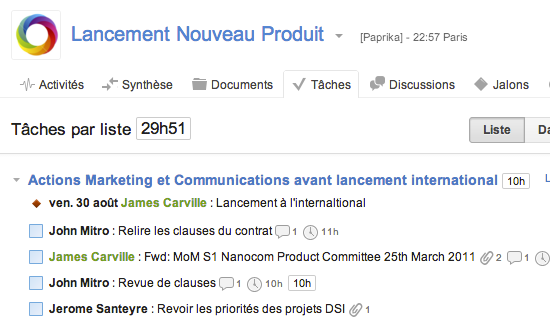 GroupCamp Progetto: Importazione ed esportazione dei dati (CSV, XLS), relazione di progetto, tempo di stima