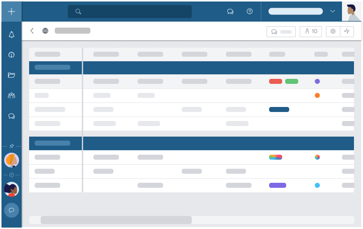 Table View's personalized filters allow you to work more productively and give layout flexibility to perform advanced task management in every project.