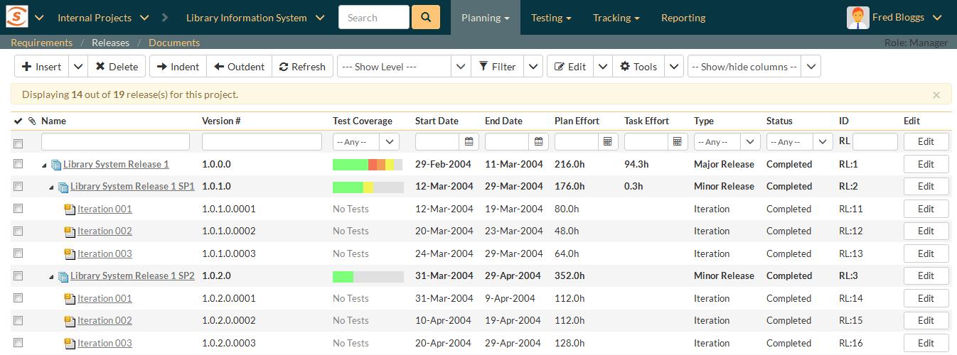 SpiraTest-SpiraTest - Release Management - Inflectra-Image