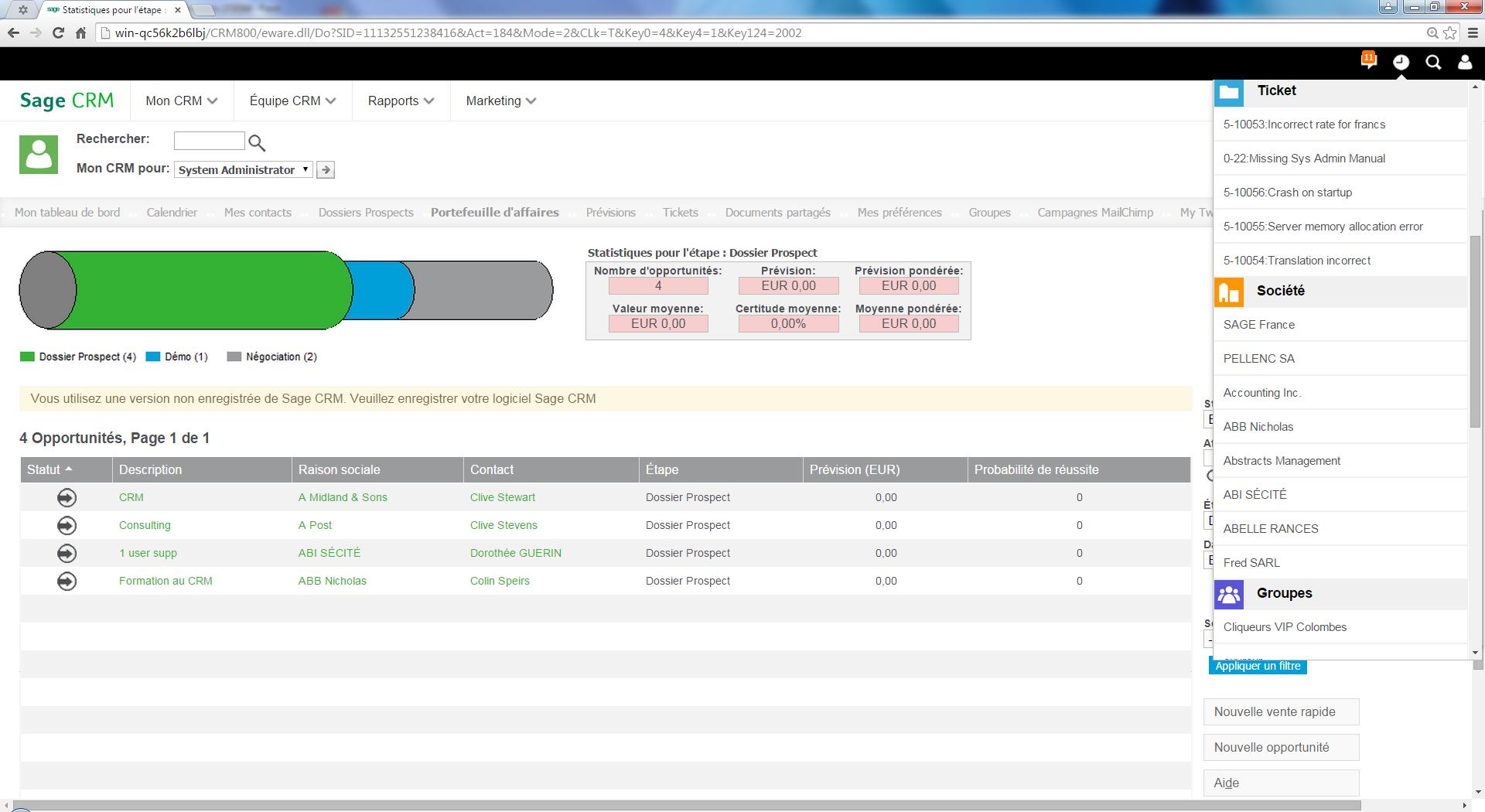 CRM: Adaptive interfaccia Web, moduli di base della conoscenza wiki