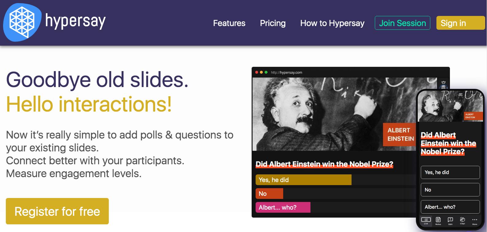 Recensioni Hypersay Education: Tieni la Presentazione che Non Dimenticheranno Mai Più - Appvizer