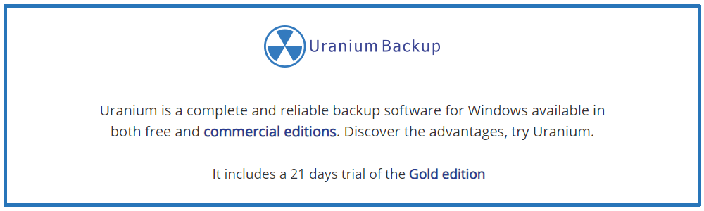 Recensioni Uranium Backup: Software di backup gratuito compatibile con Windows Server - appvizer