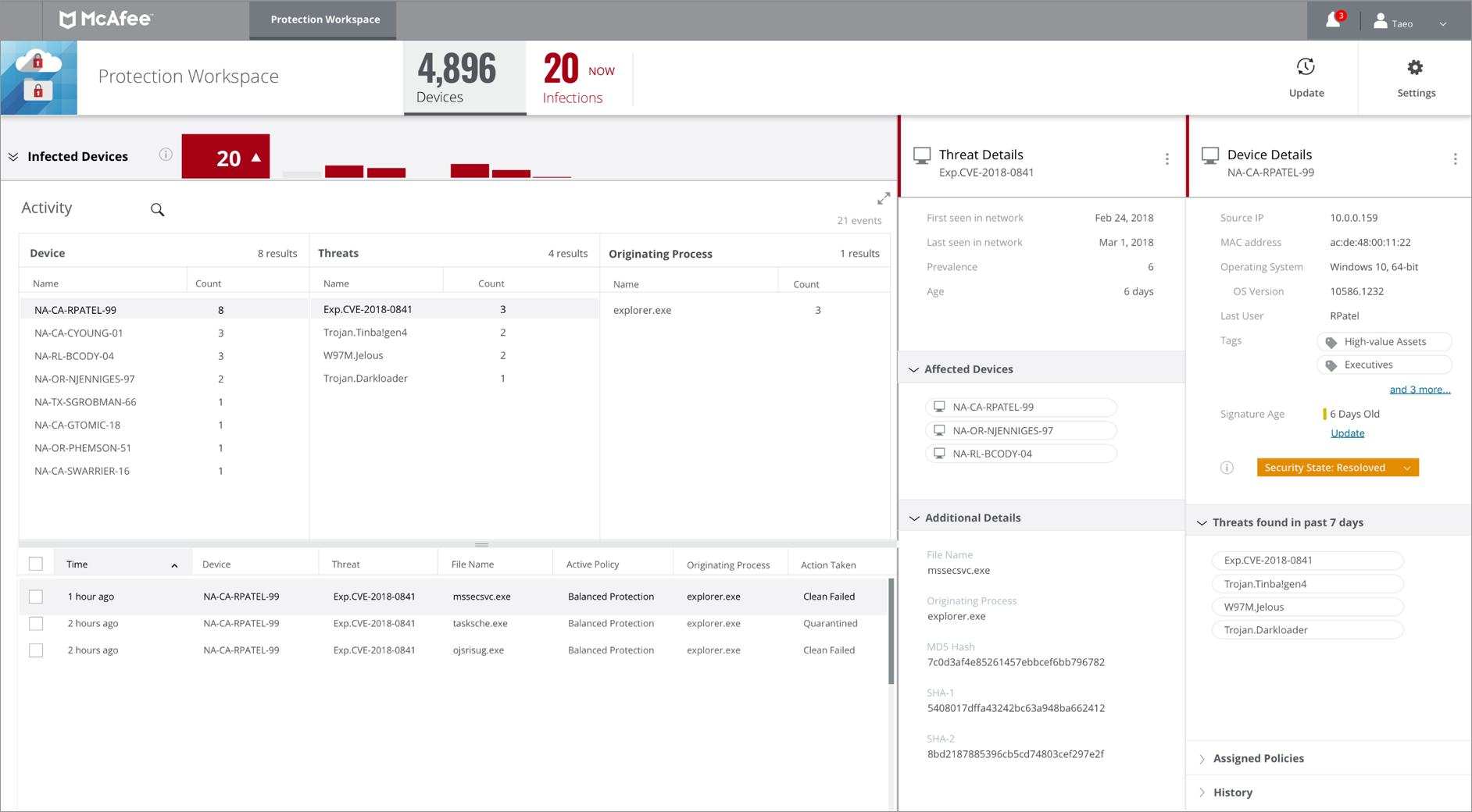 Recensioni McAfee MVISION Endpoint: Software antivirus e protezione Endpoint - Appvizer