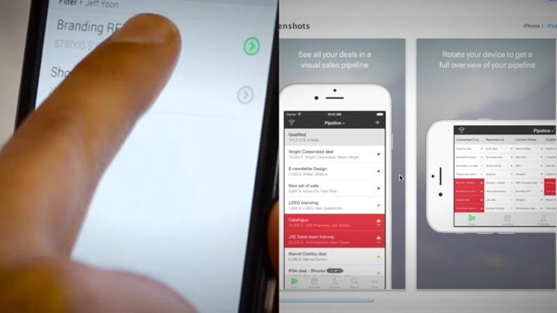 PipeDrive è un CRM online che offre applicazioni mobili