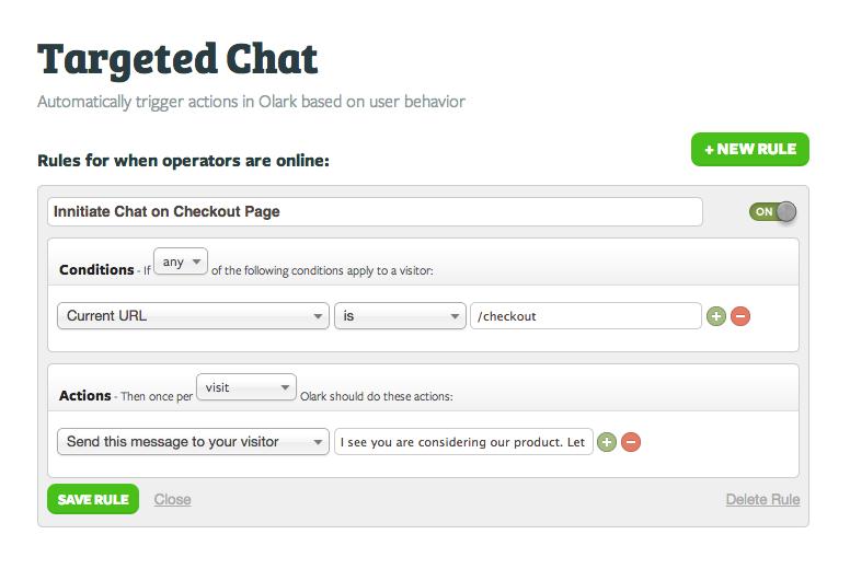 Olark: monitoraggio della soddisfazione del cliente, il supporto (telefono, email, ticket), comunità (FAQ, Forum)