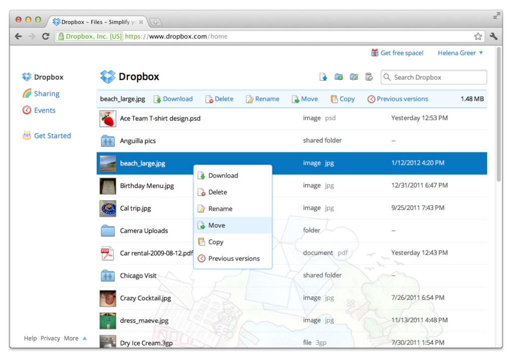 DropBox: cartelle condivise, audit e certificazione (SAS 70, ISO 27001/2, TRUSTe), Document Viewer