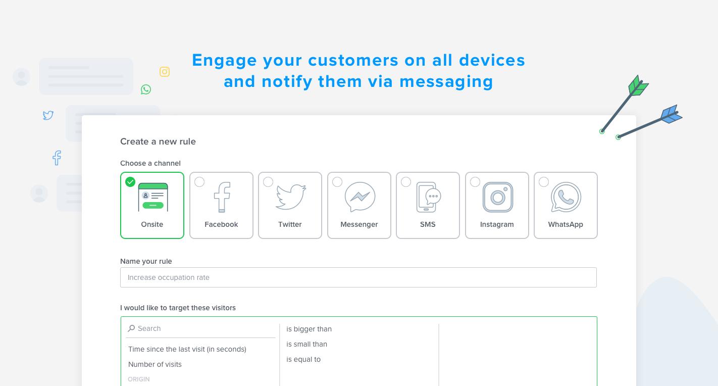 Scegliere il canale migliore contatto in base alla destinazione e quindi sollecitando la messaggistica.