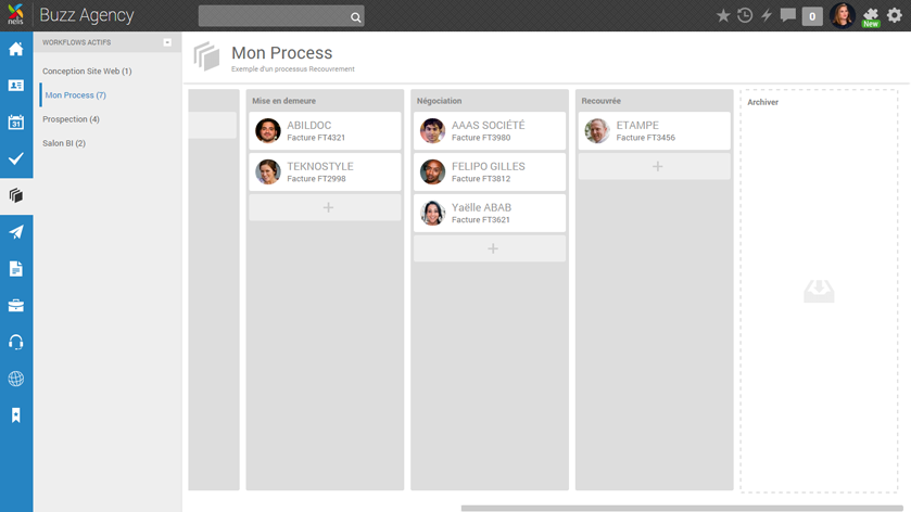 Nelis: Management Solution, Instant Messaging (IM), attività e note