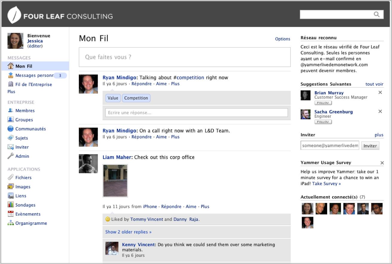 Yammer: Conversazioni e messaggi, Task Manager, editoria e la condivisione di contenuti
