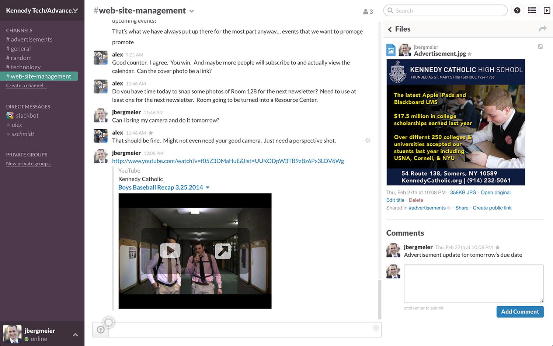 Slack: in comune i contatti, le notifiche, l'integrazione con i social network
