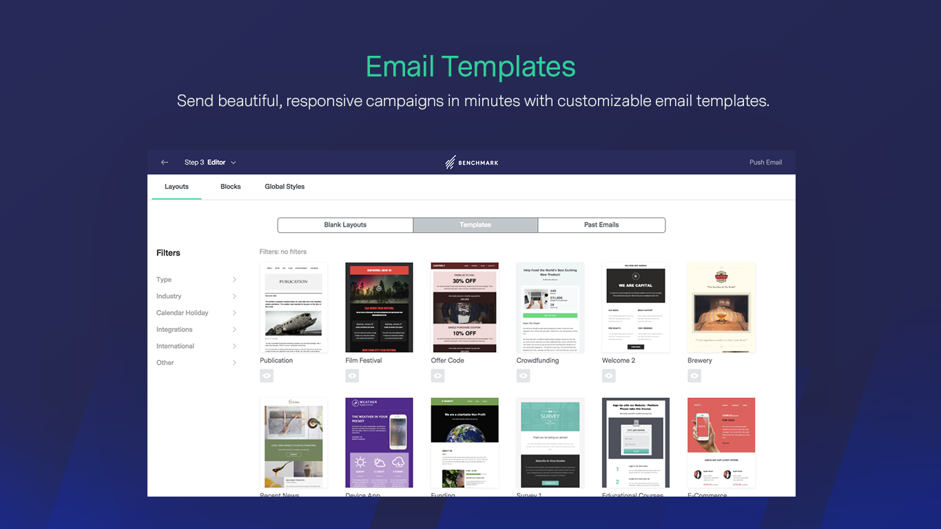 Benchmark Email - Invia email stupende