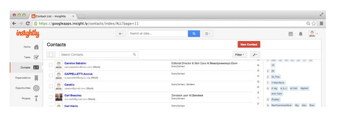 Insightly: gestione dei contatti, conoscenze di base (tutorial, demo), backup giornaliero