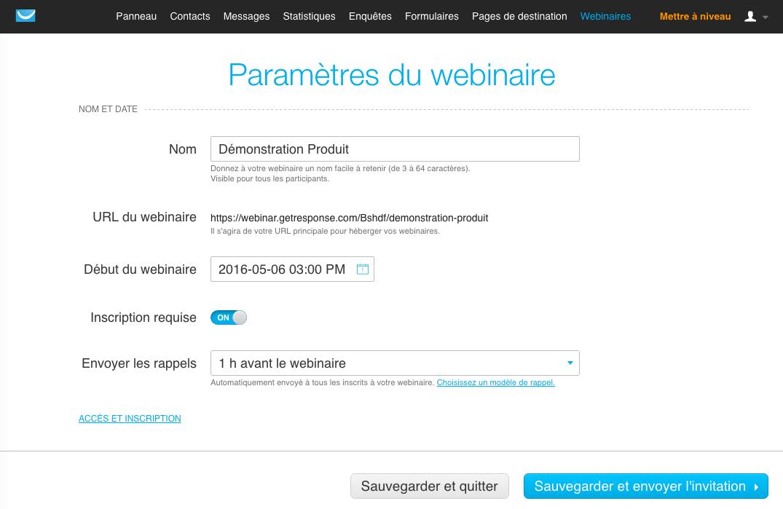 GetResponse: conoscenza di base (tutorial, demo), webinar Alloggio, Campaign Management