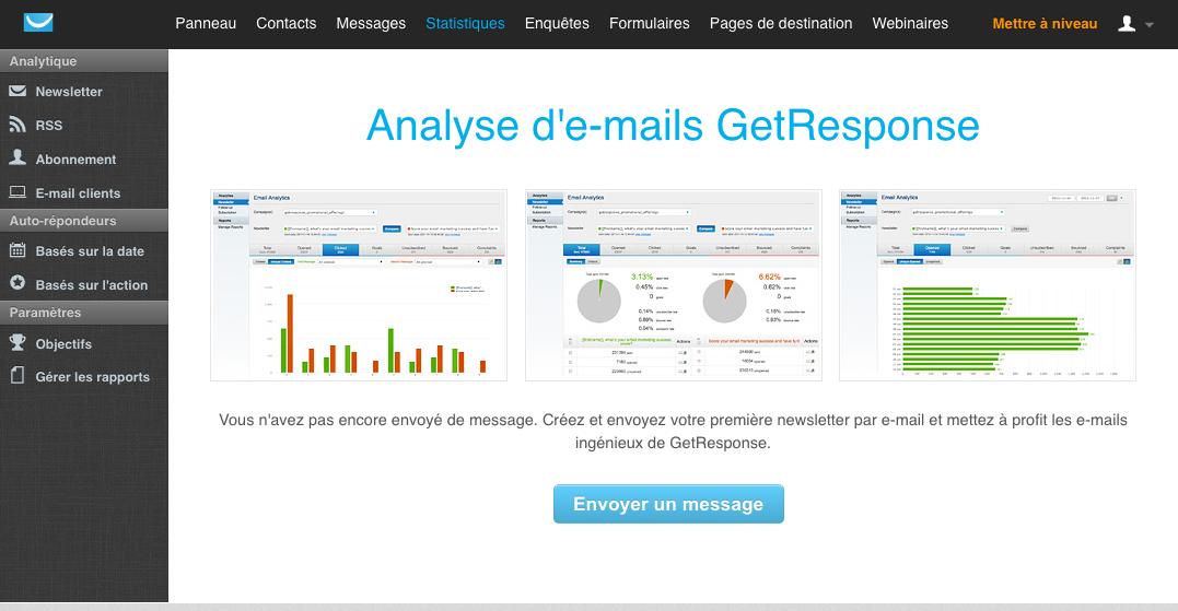 GetResponse: Importazione ed esportazione dei dati (CSV, XLS), webinar Alloggio, Sondaggi