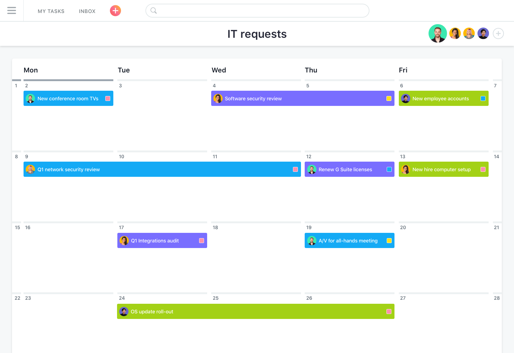 Calendario Asana, Asana: Single Sign-On (SSO), Task Manager, importare ed esportare dati (CSV, XLS)