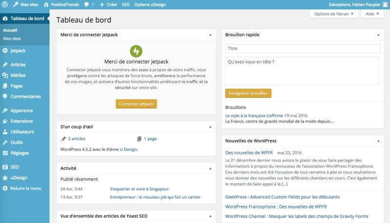 WordPress: Foto e video, modelli di siti web, modulo di contatto