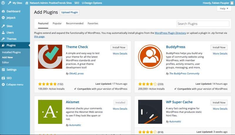 WordPress: Foto e video, modulo di contatto, responsive design