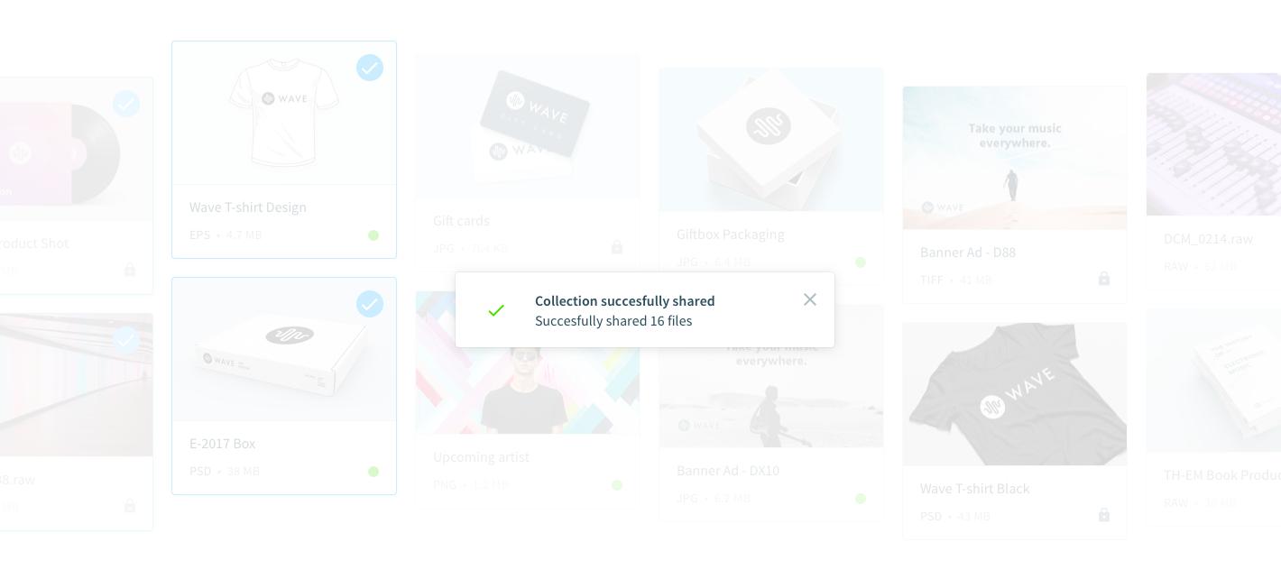 Condividere una raccolta di documenti in un click