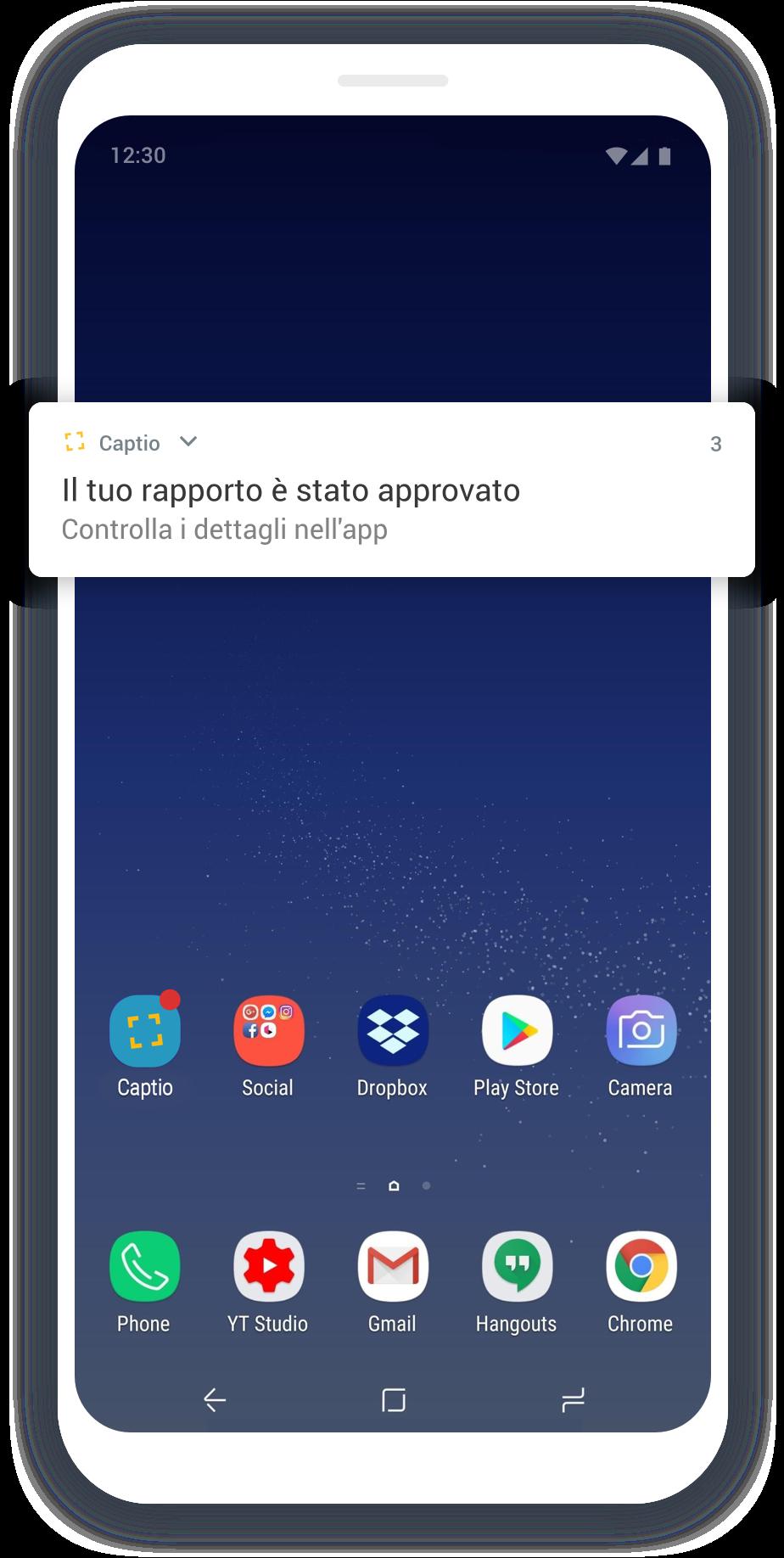 Emburse Captio-IT-App-Push-Screen
