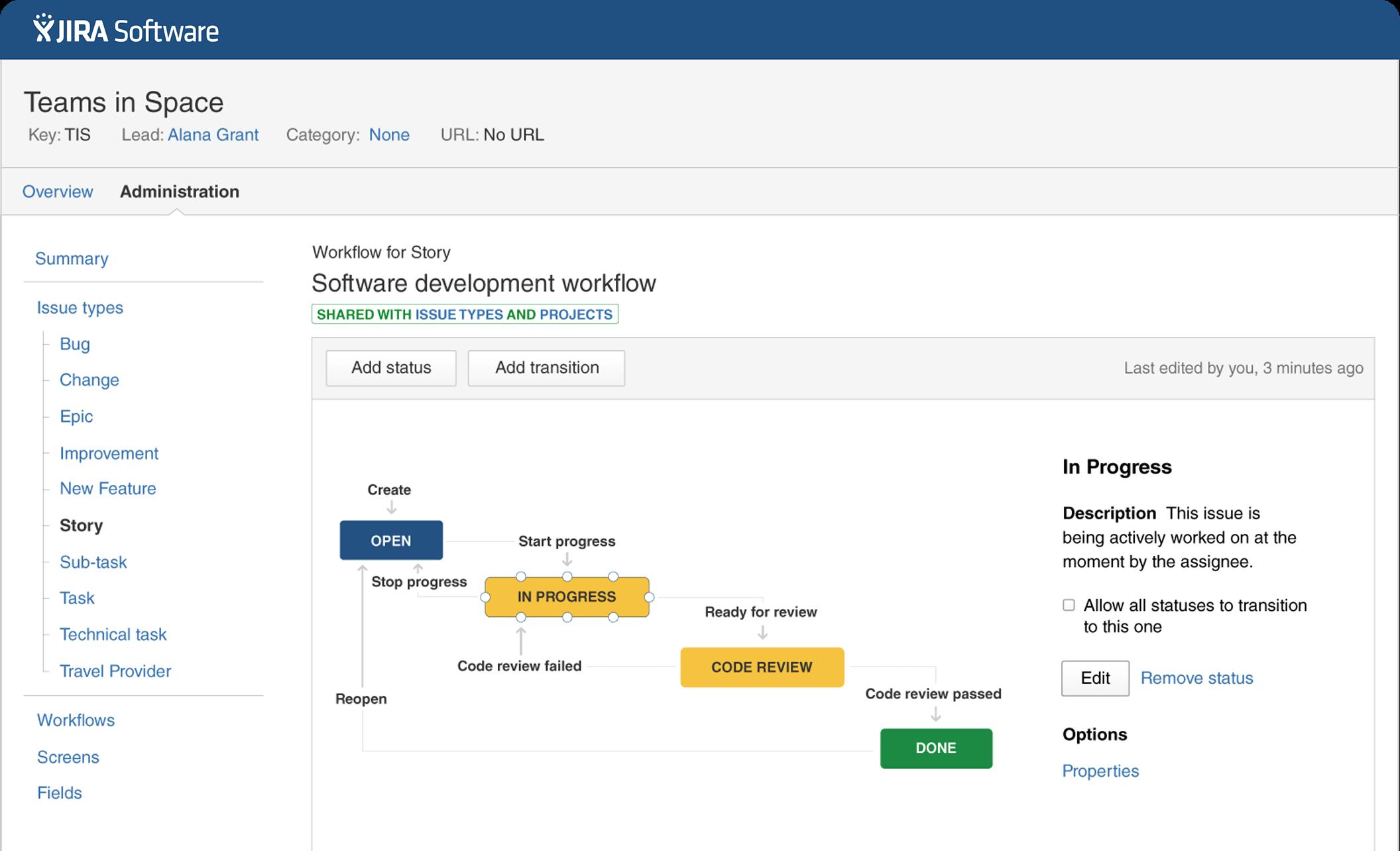 strumento di gestione-project-jira-software del flusso di lavoro